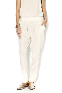 Nude Silk Pants - Toupy Paris
