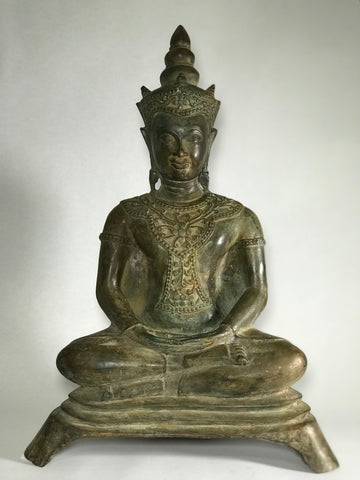 "Brass Meditating Royal Ayutthaya Buddha 21"" - Routes Gallery"