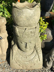 "Stone Devi Bust with Pot 40"" - Routes Gallery"