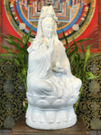 "Porcelain Seated Quan Yin Statue 20.5"" - Routes Gallery"