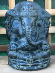 Stone Seated Ganesh 11""