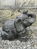 "Elephant Statue with Trunk Up for Luck 16"" - Routes Gallery"