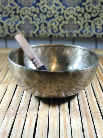 "Medicine Buddha Handmade Singing Bowl 9.75"" - Routes Gallery"