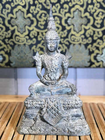 "Brass Thai Ratanakosin Buddha Statue 11.5"" - Routes Gallery"