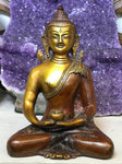 Brass Small Meditating Buddha Statue 6""