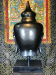 "Buddha Head Statue on Stand 30"" - Routes Gallery"