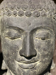 "Buddha Head Garden Statue 24"" - Routes Gallery"