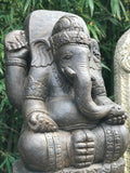 "Stone Garden Ganesh Carving Holding Tusk 34"" - Routes Gallery"