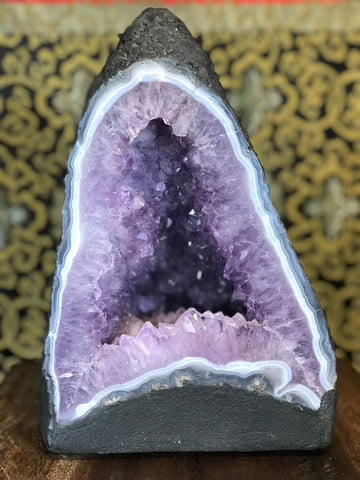 "Amethyst Quartz Crystal Cathedral Geode 11"" - Routes Gallery"