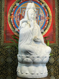 "Porcelain Seated Quan Yin Statue 29"" - Routes Gallery"