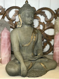 Brass Earth Witness Buddha Statue 12.5""