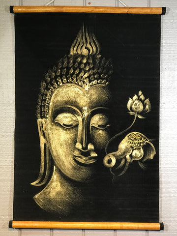"Sukhothai Buddha Wall Hanging Painting 27"" - Routes Gallery"