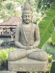 "Large Stone Meditation Garden Buddha 66"" - Routes Gallery"