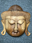 Wood Buddha Face Mask Wall Hanging 12""