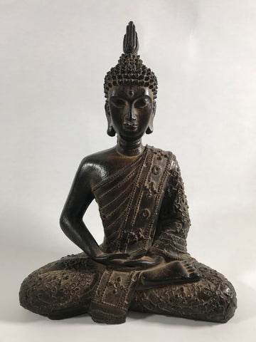 "Seated Meditating Buddha 11.5"" - Routes Gallery"