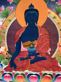 Medicine Buddha Thangka Painting - Routes Gallery
