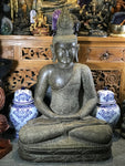Stone Meditation Buddha with Floral Robe 41""