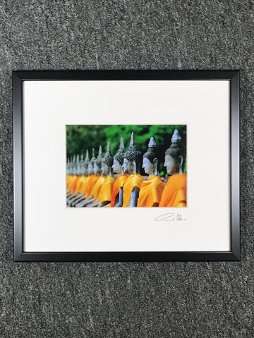 Temple Buddhas Framed Art Photo - Routes Gallery