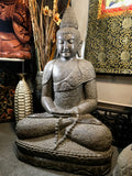 Stone Meditation Buddha Statue with Malas 43""
