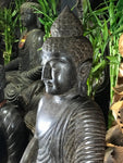 "Stone Meditating Garden Buddha Statue 28"" - Routes Gallery"