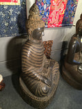 Stone Earth Touching Buddha with Full Robe 48""