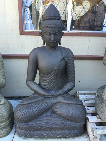 "Stone Meditating Garden Buddha 48"" - Routes Gallery"