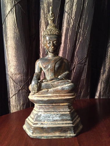 Small Bronze Thai Buddha 10""