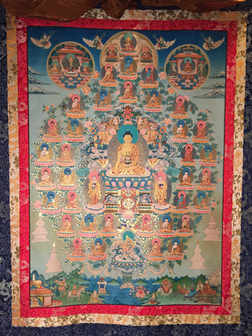 Thirty Five Buddhas of Confession Thangka Painting