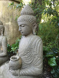 Stone Meditating Garden Buddha with Offering Bowl 40""