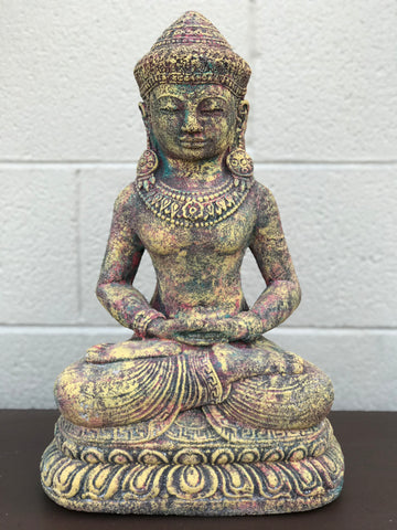 Meditating Royal Buddha Statue 16""
