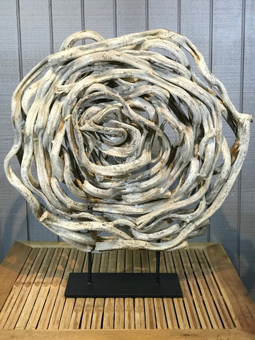 Twisted Vine Sculpture on Stand - Routes Gallery