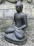 "Seated Meditating Garden Buddha Statue 21"" - Routes Gallery"