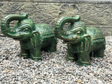 "Elephant Statue with Trunk Up for Luck 14.5"" - Routes Gallery"