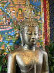 "Wood Sukhothai Earth Witness Buddha Statue 40"" - Routes Gallery"
