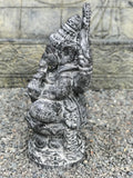 "Stone Seated Ganesh Statue 21"" - Routes Gallery"