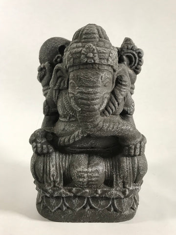 Stone Seated Ganesh 7.5""