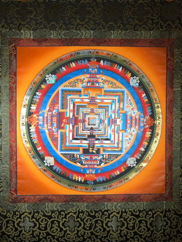 Kalachakra Mandala Thangka Painting - Routes Gallery