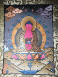 Amitābha Buddha Thangka Painting - Routes Gallery