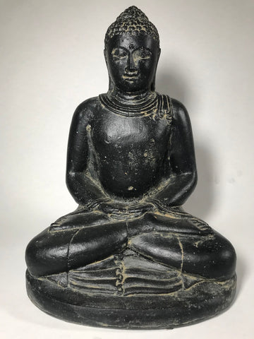"Stone Meditating Garden Buddha 12"" - Routes Gallery"