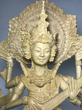 "Wood Saraswati Statue on Swan Vehicle 24"" - Routes Gallery"