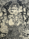 "Framed Ganesh Art Print 21"" - Routes Gallery"