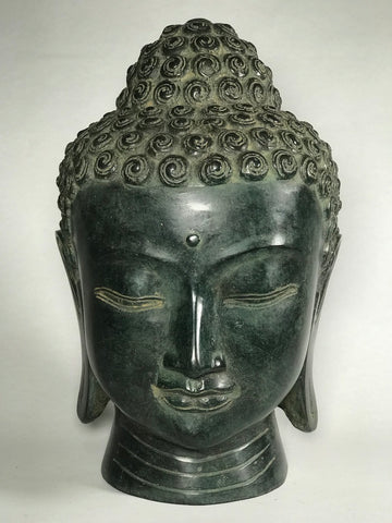 "Brass Buddha Head 11"" - Routes Gallery"