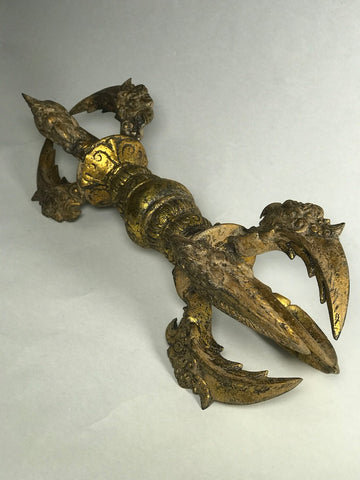"Brass Vajra Dorje Thunderbolt  17"" - Routes Gallery"