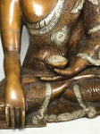 "Copper Nepalese Earth Witness Buddha 11"" - Routes Gallery"
