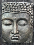 Buddha Face Panel Relief 32""