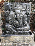 "Ganesh Panel Fountain & Carved Base 53"" - Routes Gallery"