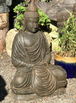"Stone Meditating Garden Buddha Statue 32"" - Routes Gallery"