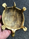 "Brass Vastu Shastra Lucky Tortoise with Ganesh 8"" - Routes Gallery"