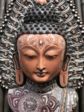 "Buddha Bust Wall Hanging 13.5"" - Routes Gallery"