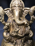 "Brass Ganesh Statue 4"" - Routes Gallery"